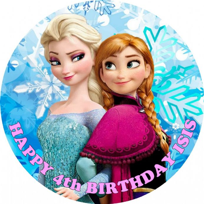 Disney Frozen Elsa & Anna Edible Cake Topper